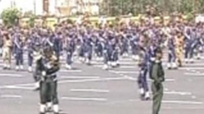 Raw Video: Deadly bombing at Yemen parade preps