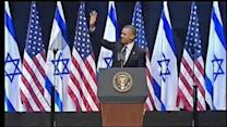 Obama urges Israelis to compromise for peace