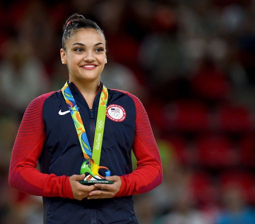 Olympian Laurie Hernandez got a message from her celeb crush, you probably know of him