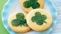 St. Patrick's Day Clover-Stenciled Cookies