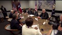 President Meets With Texas Governor Over Immigration Crisis