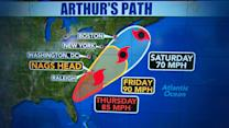 Hurricane Arthur to make heavy impact on North Carolina