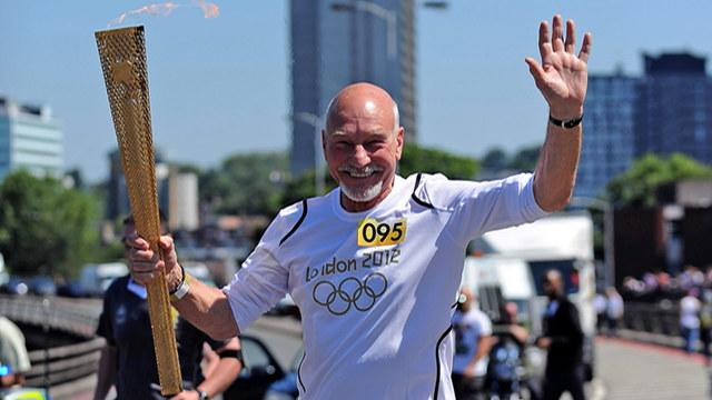 David Letterman - Patrick Stewart's Olympic Torch Relay