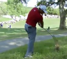 WATCH: How did Rahm pull off unreal shot from trees? Seve helped