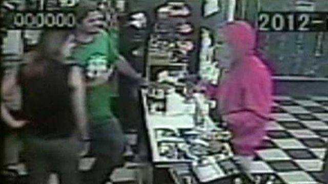 Armed thief opens fire during robbery in California