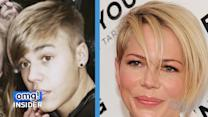 Battle of the Edgy 'Do's: Justin Beiber Vs. Michelle Williams