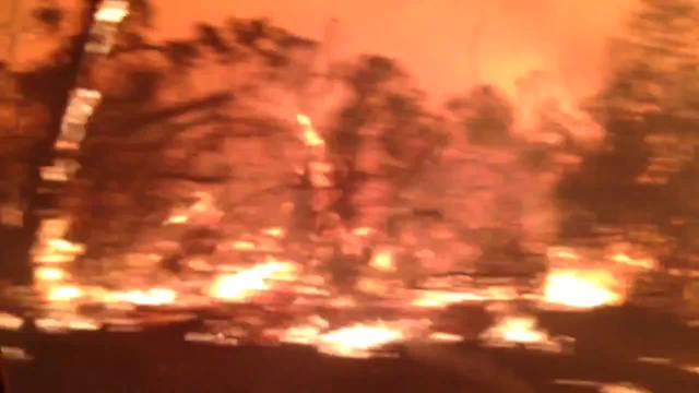 Firefighters Drive Through Massive Victoria Blaze