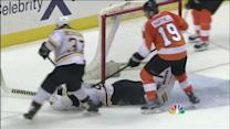 Rask dives over to stop Giroux