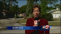 Family, pets escape burning Holly Hill home