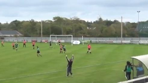 Footballer Scores With Amazing 20-Yard Volley