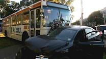 Muni bus hits car near panhandle, bus driver hospitalized