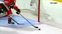 Keith saves a goal late in the third