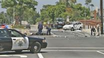Motorcycle fleeing police crashes in Long Beach; 2 dead