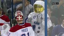 Astronaut dances in front of Carey Price