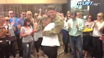 Raw: Mom surprised by son's homecoming from Afghanistan