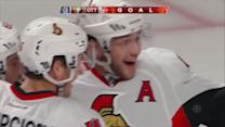 Ryan flicks a shots that trickles by Price
