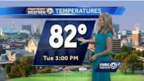 Isolated storms possible today, temps still on mild side