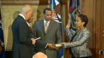 Loretta Lynch Being Sworn in as Attorney General