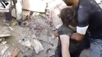 Survivor Pulled From Rubble After Damascus Suburb Bombed