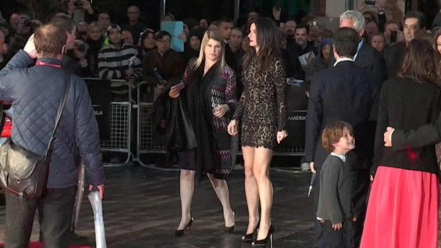 Sandra Bullock Wows in a Lace Minidress at Gravity Premiere